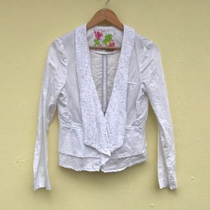 Free People Summer Cardigan in White Size 6